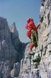 10b-Marcello Bulfoni - Campanile Val Montanaia - Via Comune parete sud - meta anni '60